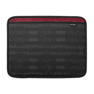 Capa Para MacBook Air Preto Embellished Argyle listrado