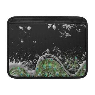 Capa Para MacBook Air Splatter floral do Grunge do pavão