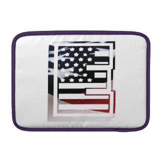 Capa Para MacBook Air Teste padrão da bandeira dos EUA da inicial do