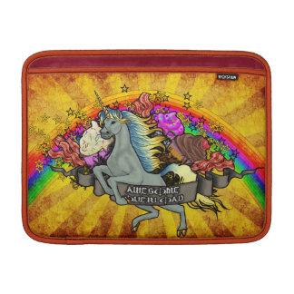Capa Para MacBook Air Unicórnio, arco-íris & bacon impressionantes da