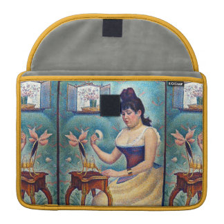 Capa Para MacBook Jovem mulher que pulveriza-se