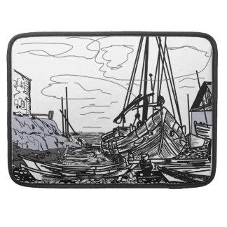 Capa Para MacBook Pro barcos na água