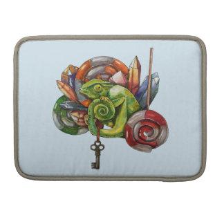 Capa Para MacBook Pro camaleão e cristais
