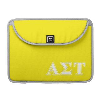 Capa Para MacBook Pro Letras brancas e amarelas da tau alfa do Sigma