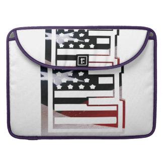 Capa Para MacBook Pro Teste padrão da bandeira dos EUA da inicial do