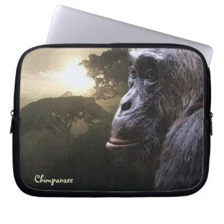 Capa Para Notebook A bolsa de laptop africana do chimpanzé & dos