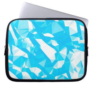Capa Para Notebook A bolsa de laptop azul dos cristais