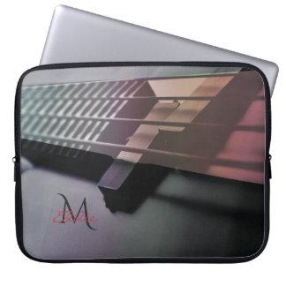 Capa Para Notebook A bolsa de laptop da guitarra baixa da música do