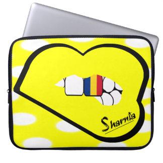 Capa Para Notebook A bolsa de laptop de Romania dos lábios de Sharnia