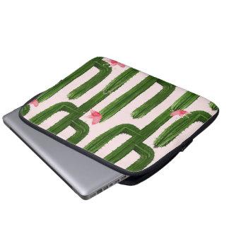 """Capa Para Notebook A bolsa de laptop feliz 13"""" dos cactos"""