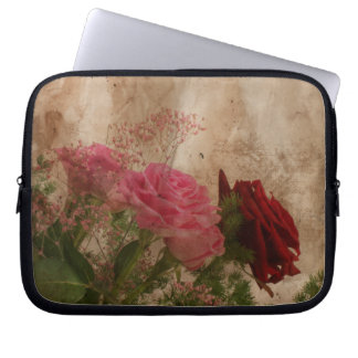 Capa Para Notebook A bolsa de laptop floral do Grunge
