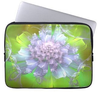 Capa Para Notebook A bolsa de laptop floral do meio do Fractal do
