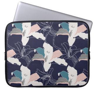 Capa Para Notebook A bolsa de laptop tropical do marinho