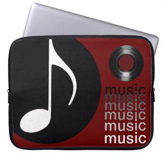 Capa Para Notebook a música nota o registro de vinil