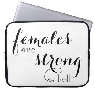 Capa Para Notebook As fêmeas são caixa forte do laptop