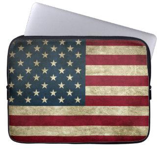 Capa Para Notebook Bandeira americana do Grunge