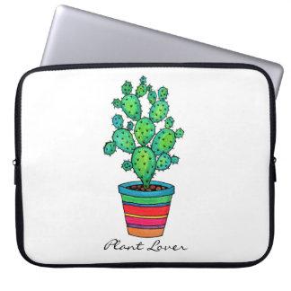 Capa Para Notebook Cacto lindo da aguarela no pote bonito