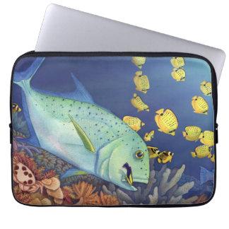 Capa Para Notebook Cena do recife de Trevally do Bluefin (Omilu)