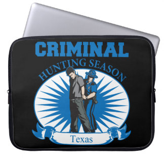 Capa Para Notebook Época de caça do criminoso de Texas