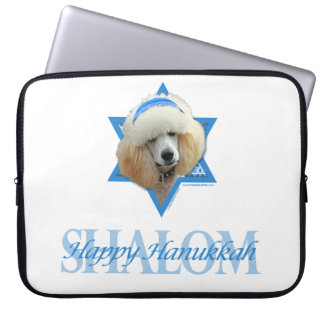 Capa Para Notebook Estrela de David de Hanukkah - caniche - abricó