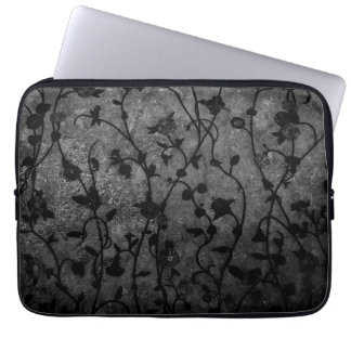 Capa Para Notebook Floral antigo gótico preto e branco