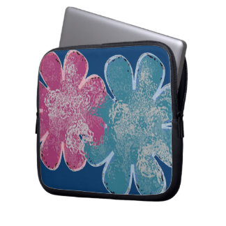 Capa Para Notebook Flores de vidro (rosa/cerceta/marinho)