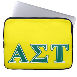 Capa Para Notebook Letras verdes da tau do Sigma alfa