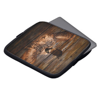 Capa Para Notebook Mergulhão-do-norte de madeira das aves aquáticas