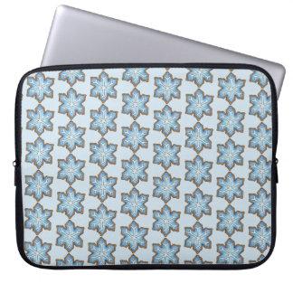 Capa Para Notebook Natal azul de Hanukkah do feriado de inverno do
