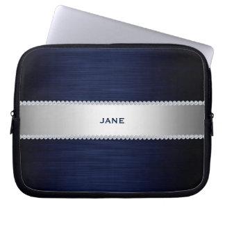 Capa Para Notebook os azuis marinhos metal com diamantes e nomeiam