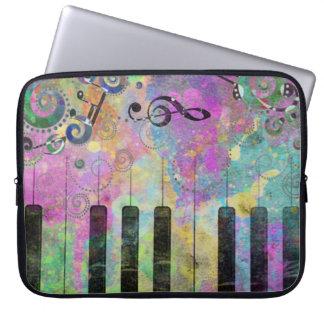 Capa Para Notebook Piano colorido dos splatters legal dos watercolour