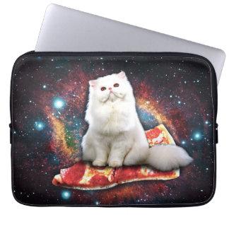 Capa Para Notebook Pizza do gato do espaço