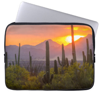 Capa Para Notebook Por do sol do cacto do deserto, arizona