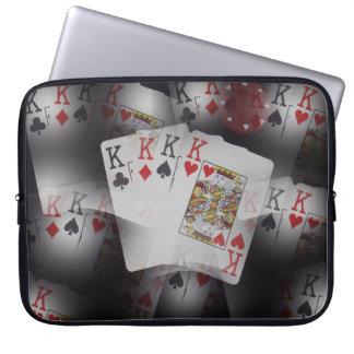 Capa Para Notebook Reis Teste padrão do quadrilátero dos cartões de