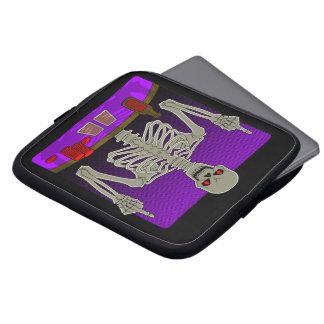 Capa Para Notebook Sacudir de esqueleto do póquer