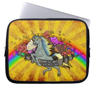 Capa Para Notebook Unicórnio, arco-íris & bacon impressionantes da
