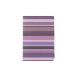 Capa Para Passaporte Listras horizontais malva
