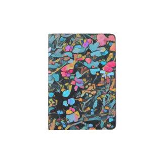 Capa Para Passaporte Suporte floral abstrato do passaporte