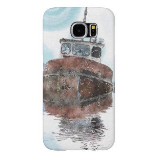 Capa Para Samsung Galaxy S6 Barco-amantes que pescam séries da arte do