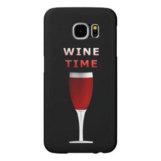 Capa Para Samsung Galaxy S6 Caixa da galáxia S6 de Samsung do tempo do vinho