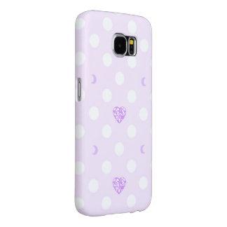 Capa Para Samsung Galaxy S6 Cristal do coração e galáxia Pastel S6 Ca de