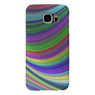 Capa Para Samsung Galaxy S6 Curvas da cor
