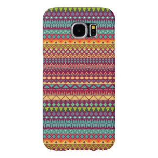 Capa Para Samsung Galaxy S6 Design abstrato listrado tribal do teste padrão