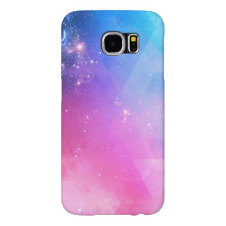 Capa Para Samsung Galaxy S6 Galáxia geométrica abstrata colorida do céu