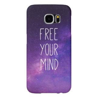 """Capa Para Samsung Galaxy S6 """"Livre céu nocturno do azul das citações da sua"""