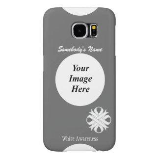 Capa Para Samsung Galaxy S6 Modelo da fita do trevo branco