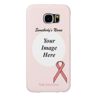 Capa Para Samsung Galaxy S6 Modelo padrão cor-de-rosa da fita