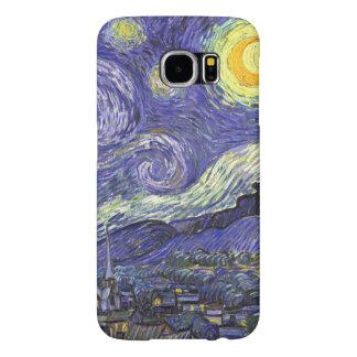 Capa Para Samsung Galaxy S6 Noite estrelado de Van Gogh, paisagem das belas