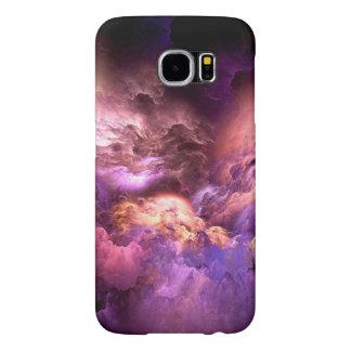 Capa Para Samsung Galaxy S6 Nuvens roxas irreais