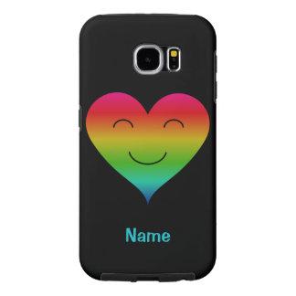 Capa Para Samsung Galaxy S6 O nome feito sob encomenda de sorriso do coração